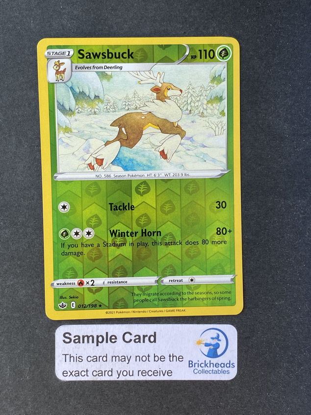 Sawsbuck 012/198 Reverse Holo | SWSH: Chilling Reign | Pokemon Card