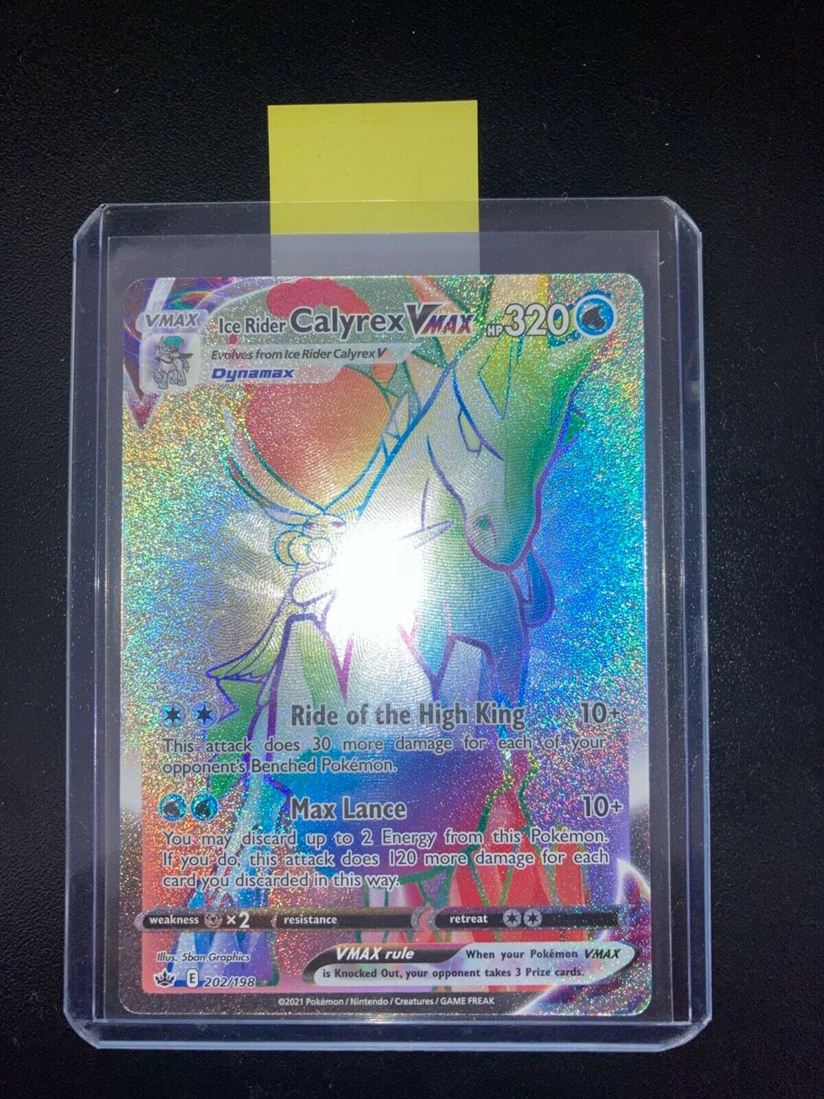 Ice Rider Calyrex VMAX 202/198 Secret Rare Chilling Reign PokemonTCG 2021 (NEW)