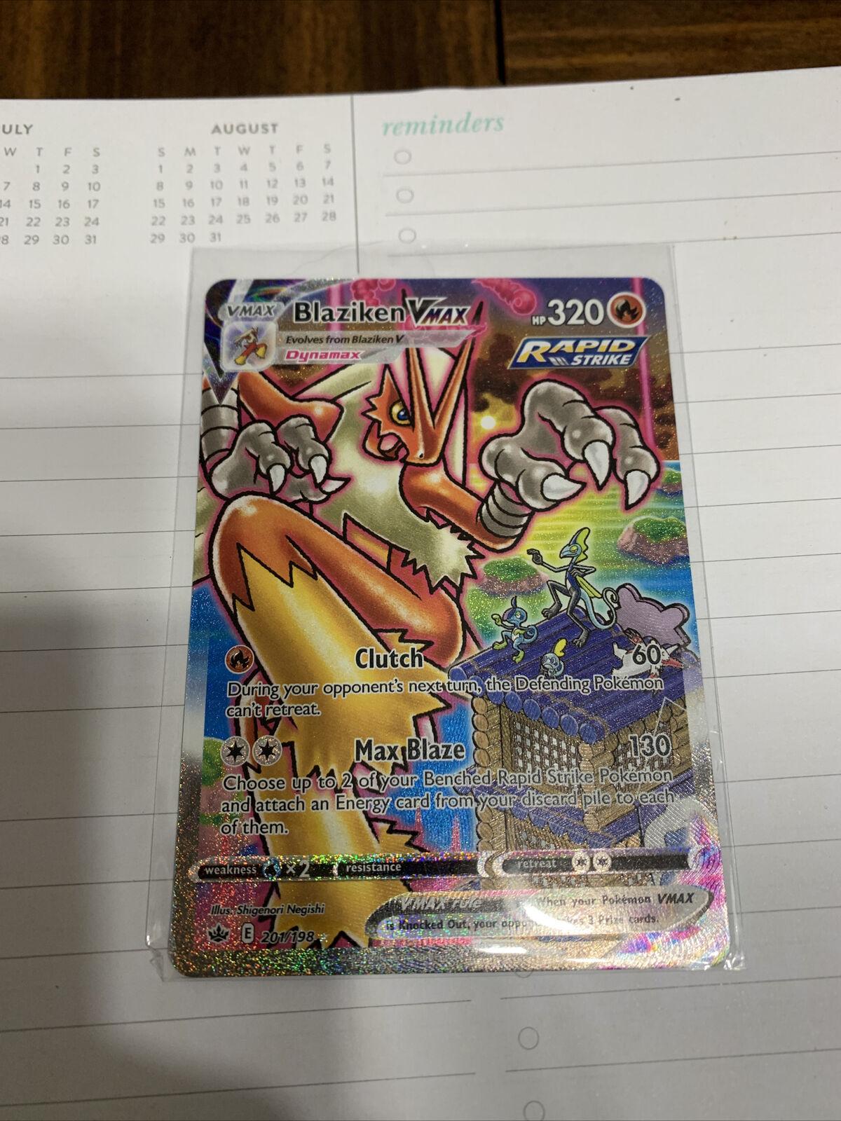 Pokémon TCG Blaziken VMAX Chilling Reign 201/198 Holo Secret Rare