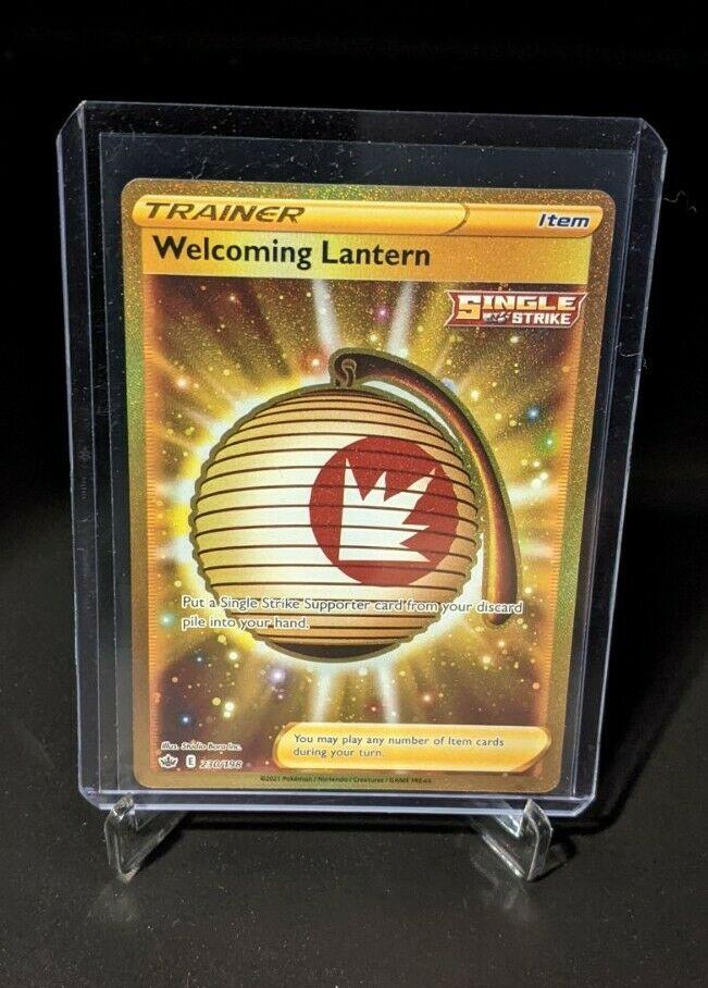 Pokemon Welcoming Lantern Gold 230/198 Chilling Reign Rare