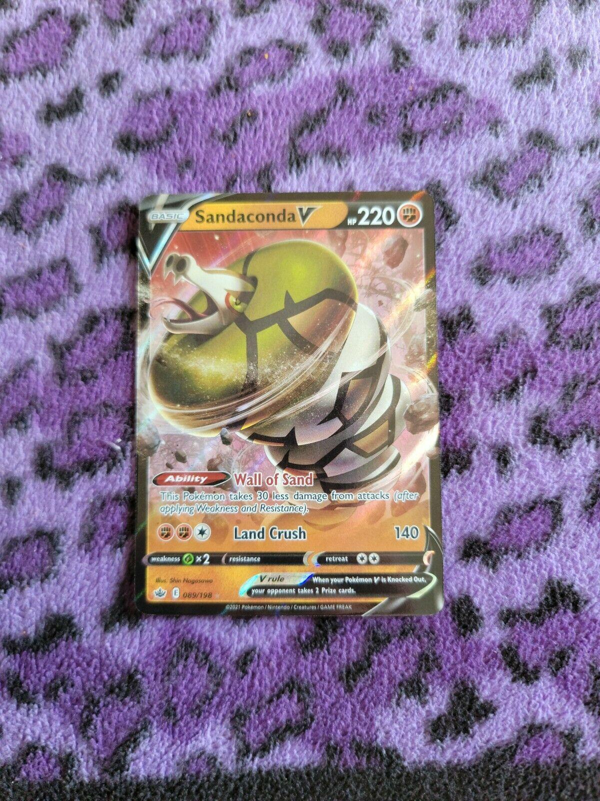Sandaconda V 089/198 Ultra Rare Pokémon Sword & Shield: Chilling Reign - NM/M
