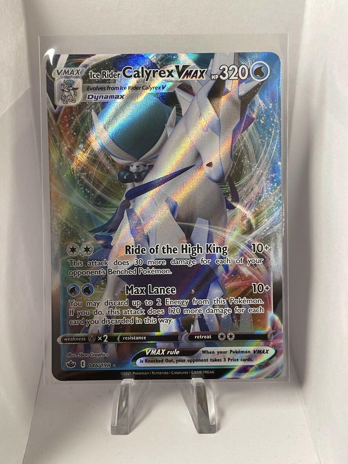 Pokemon Chilling Reign Ice Rider Calyrex Vmax 046/198