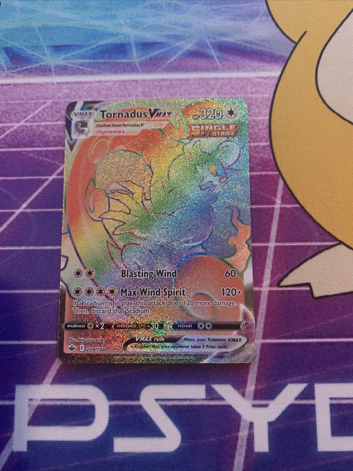 Tornadus VMax (Secret Rare) 209/198 Chilling Reign Pokemon TCG