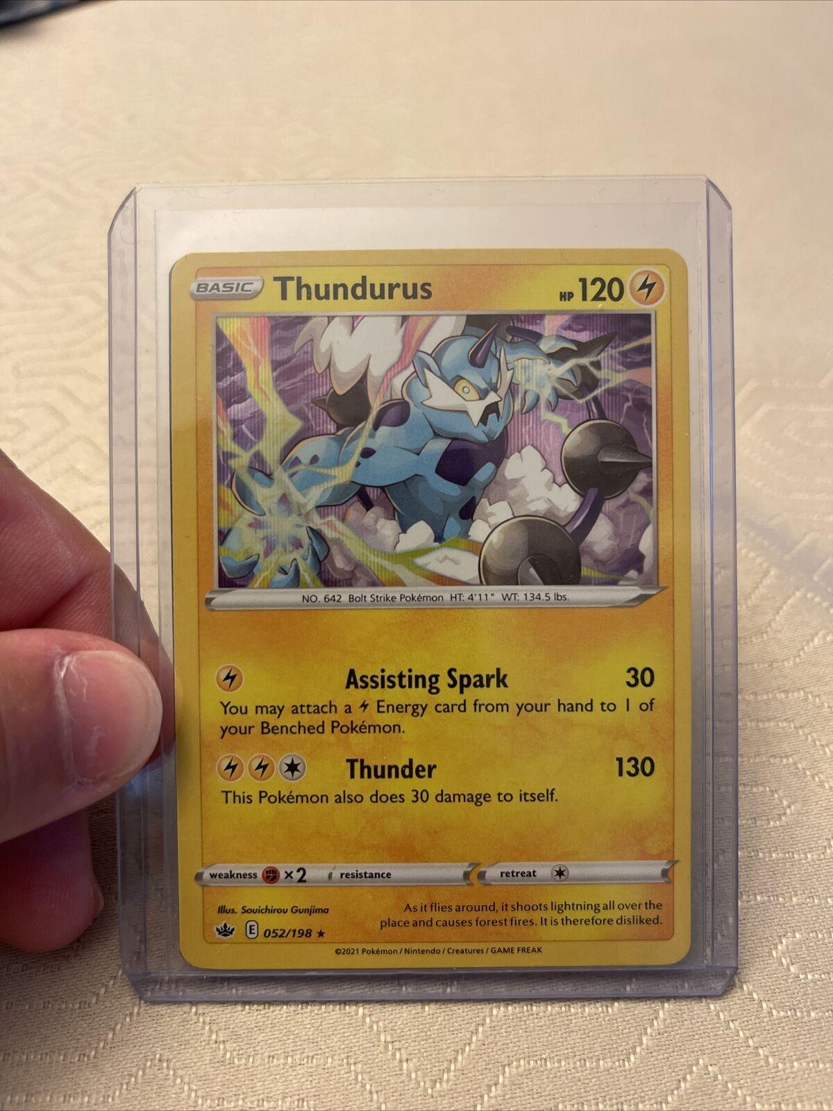 Pokemon - Thundurus - 052/198 - Holo Rare - Chilling Reign - NM/M - New