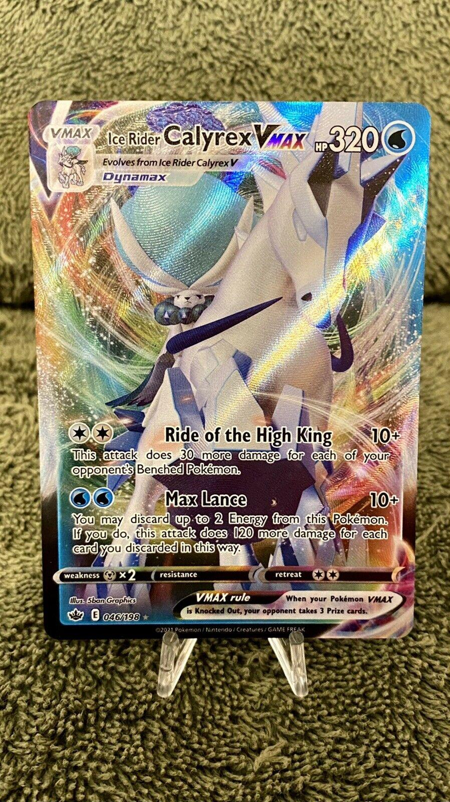 Ice Rider Calyrex VMAX 046/198 Full Art Pokémon Chilling Reign NM