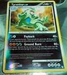 Pokemon Tyranitar 17/123 Reverse Holo Rare Mysterious Treasures PL