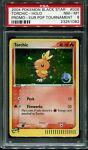 Pokemon PSA 8 MINT Torchic 006 Holo Nintendo Black Star Promo E-League Stamp
