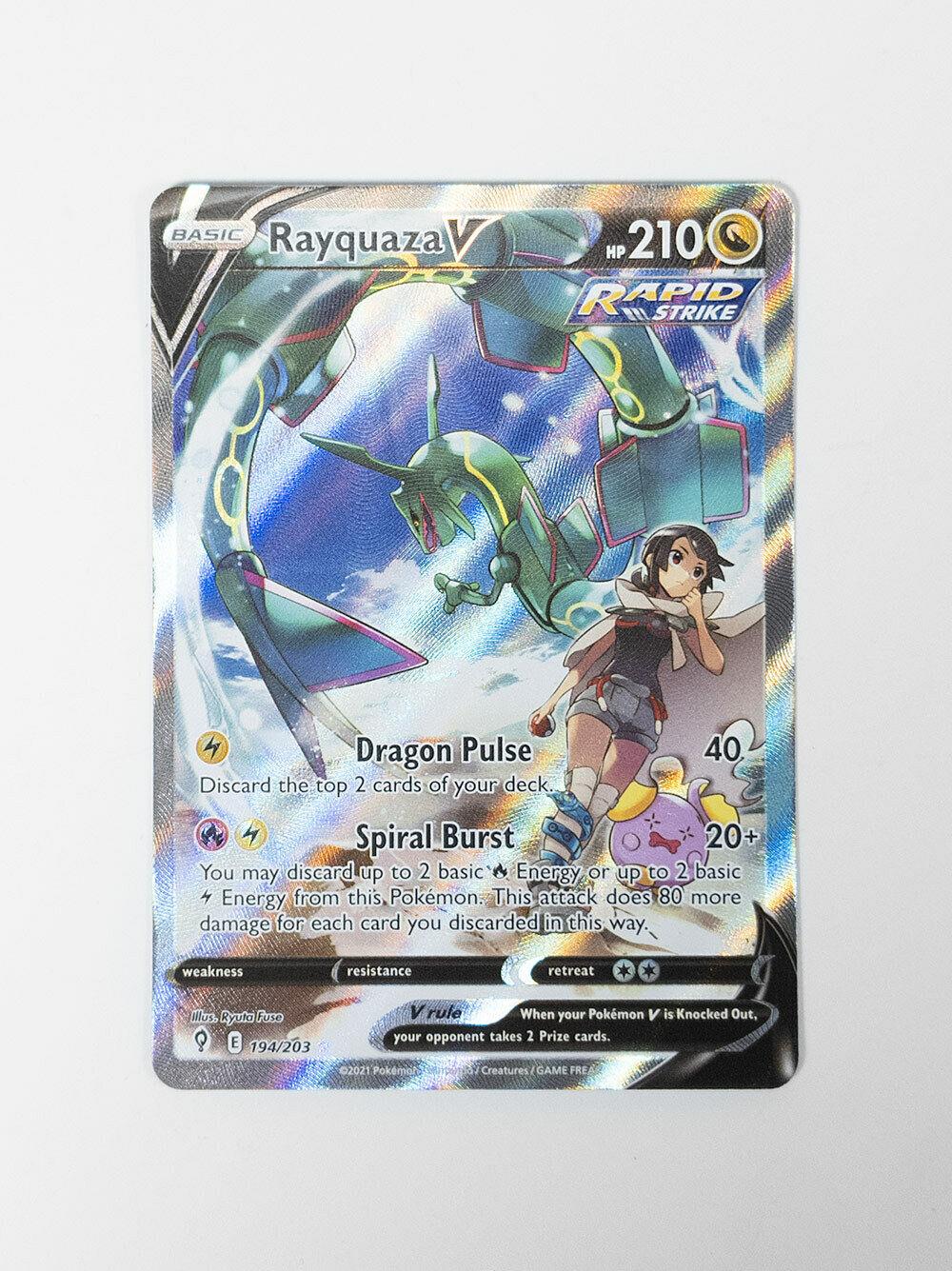 Rayquaza V 194/203 Pokémon TCG Evolving Skies Full Art Rare Alt Art M/NM