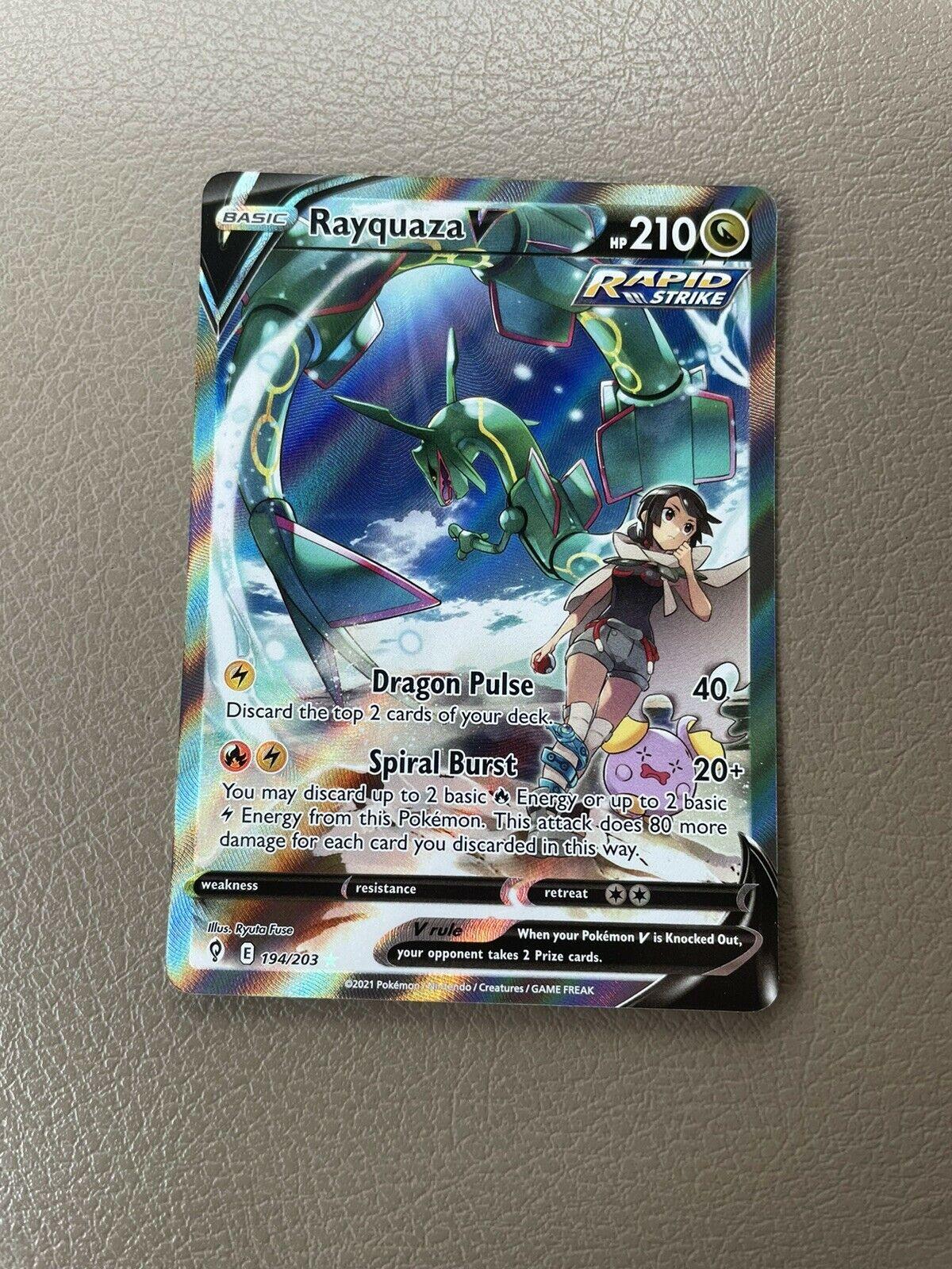 Pokemon TCG Evolving Skies RAYQUAZA V Alt Art 194/203