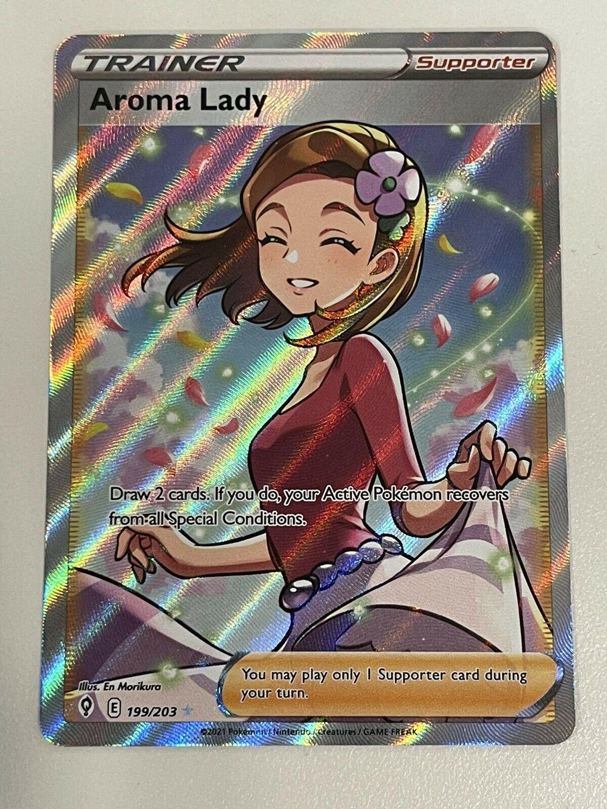 Pokemon Evolving Skies - Aroma Lady - Full Art Trainer 199/203
