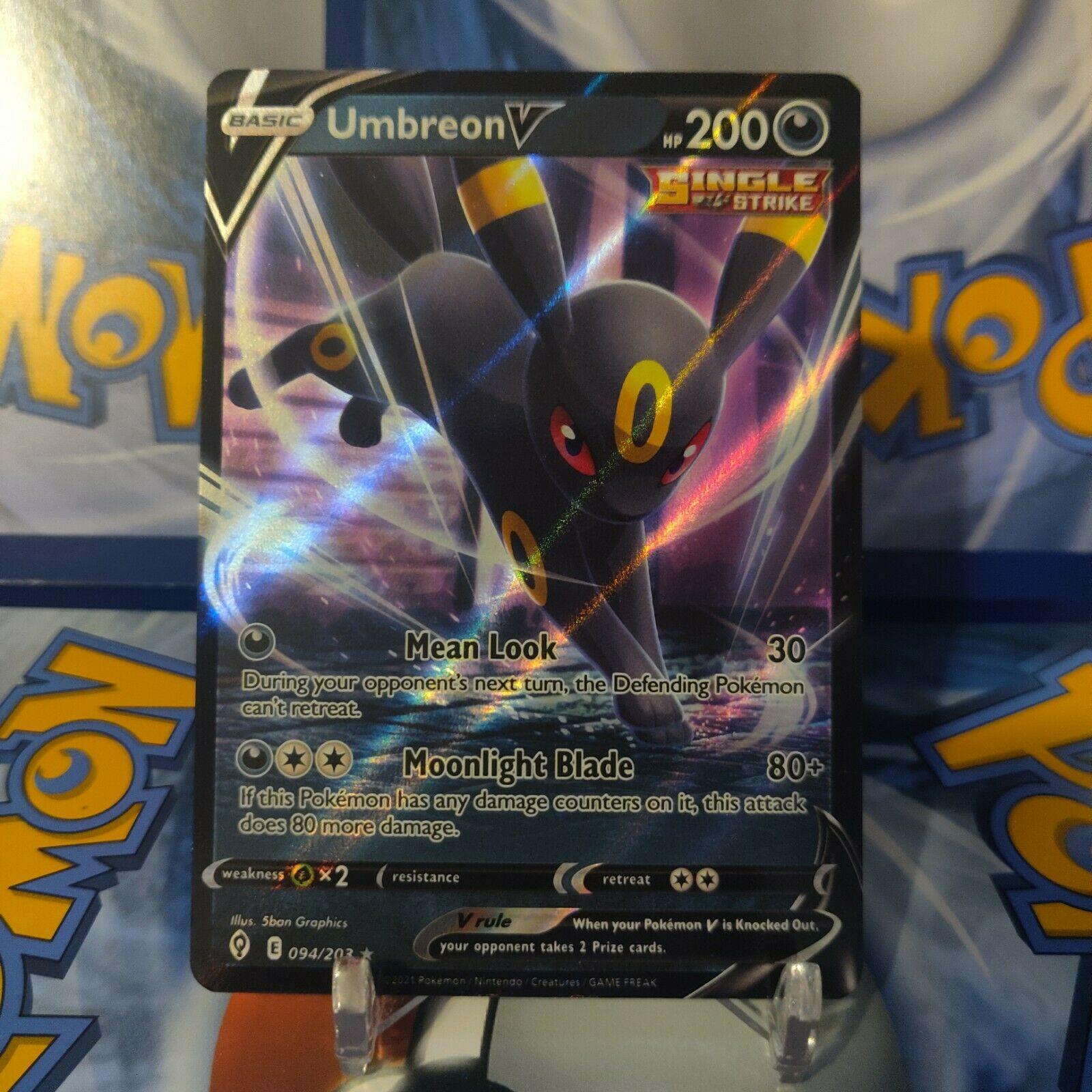 Pokemon TCG Evolving Skies UMBREON V Card # 094/203