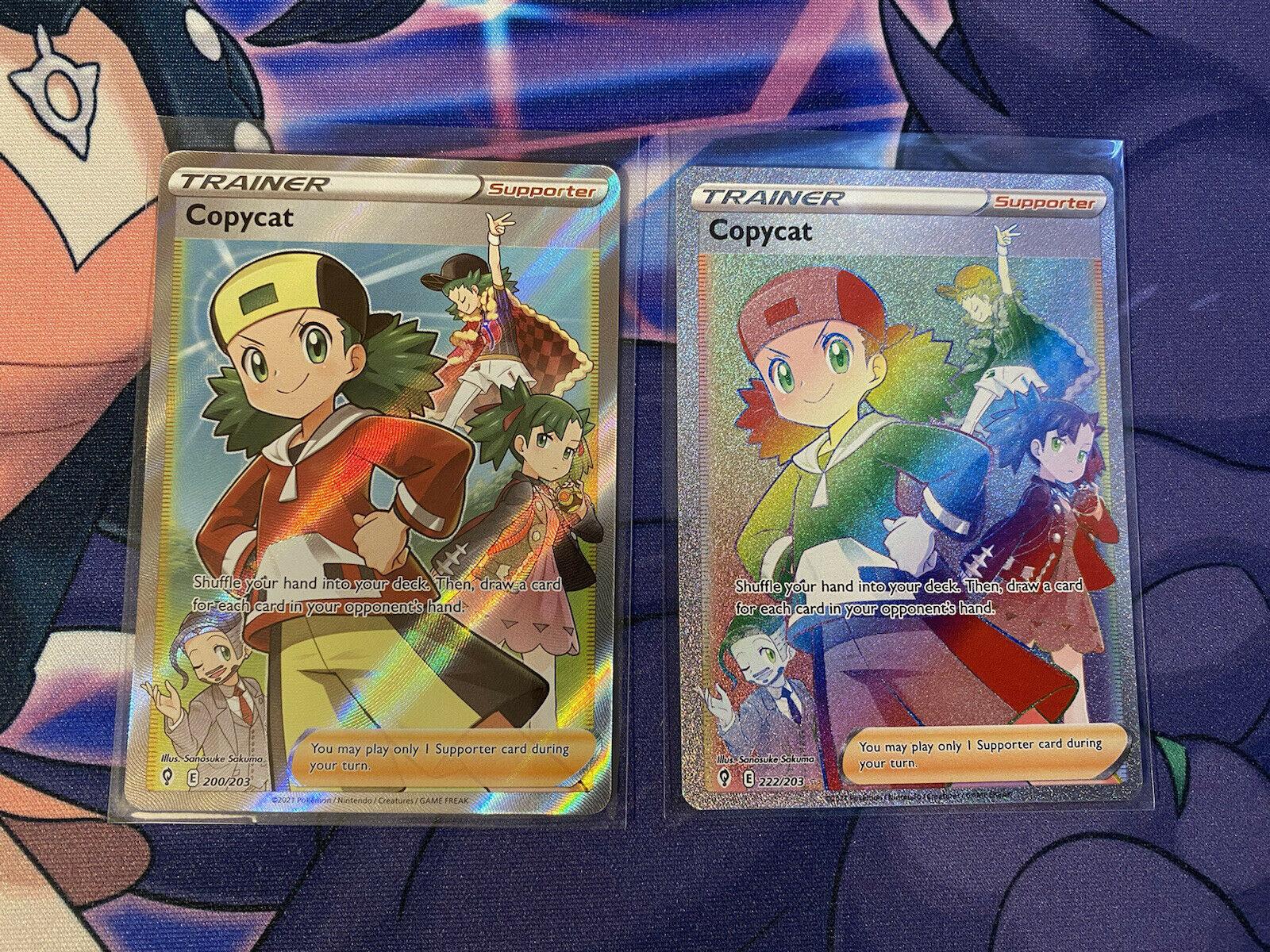 Pokemon Evolving Skies Copycat Full Art Trainer Rainbow Rare 200/203 222/203 NM