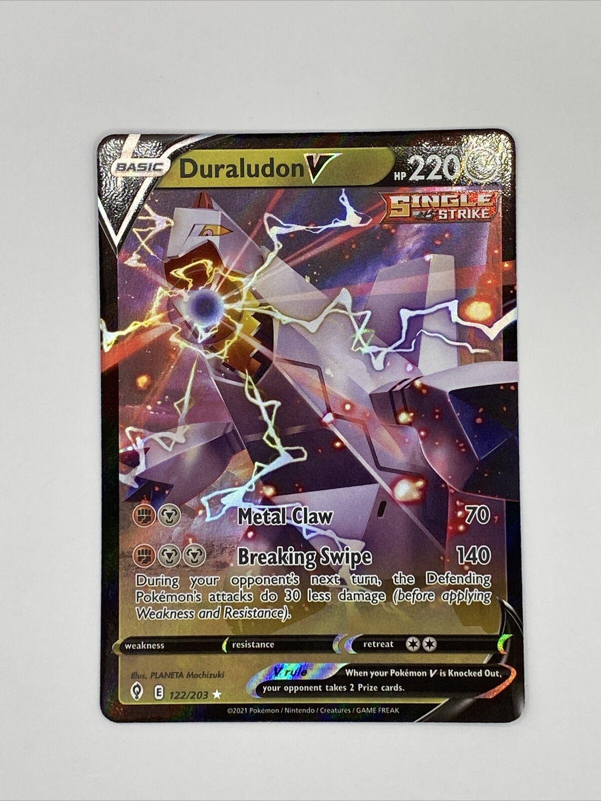 Duraludon V 122/203 Evolving Skies NM Full Art Ultra Rare Pokemon Card