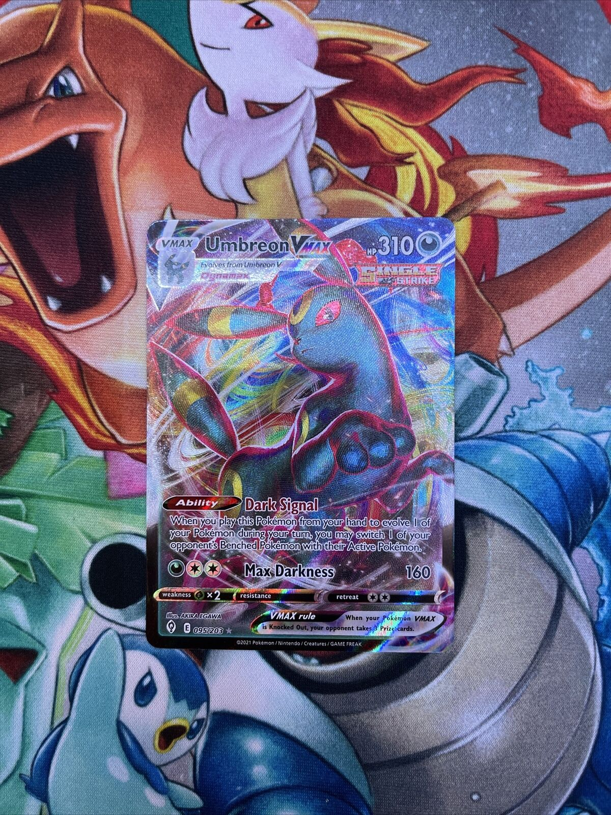 Pokemon TCG Umbreon VMAX 095/203 Ultra Rare Full Art Evolving Skies NM