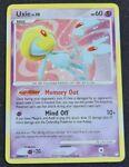 Uxie 18/123 Holo Rare Mysterious Treasures 2007 Pokemon Card - Near Mint