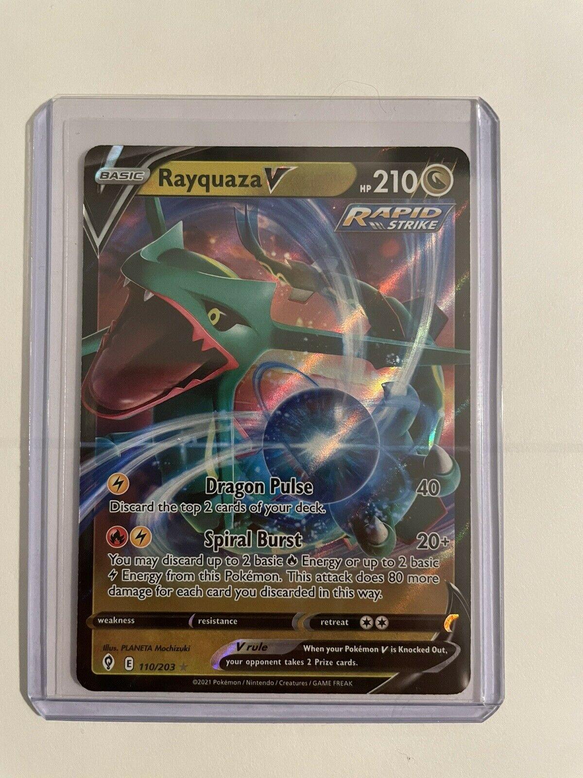 Rayquaza V 110/203 NM/M Evolving Skies Pokemon Card