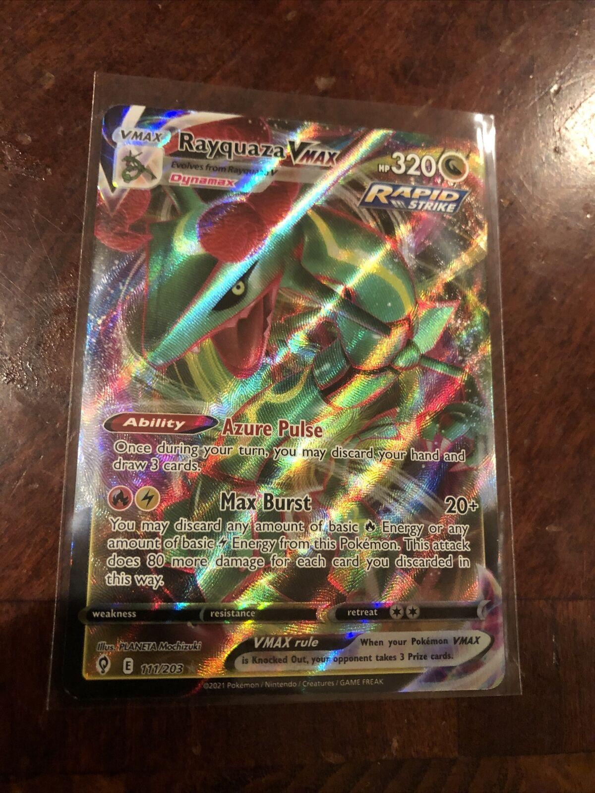 Pokemon TCG Rayquaza VMAX (Full Art) Near Mint Evolving Skies 111/203