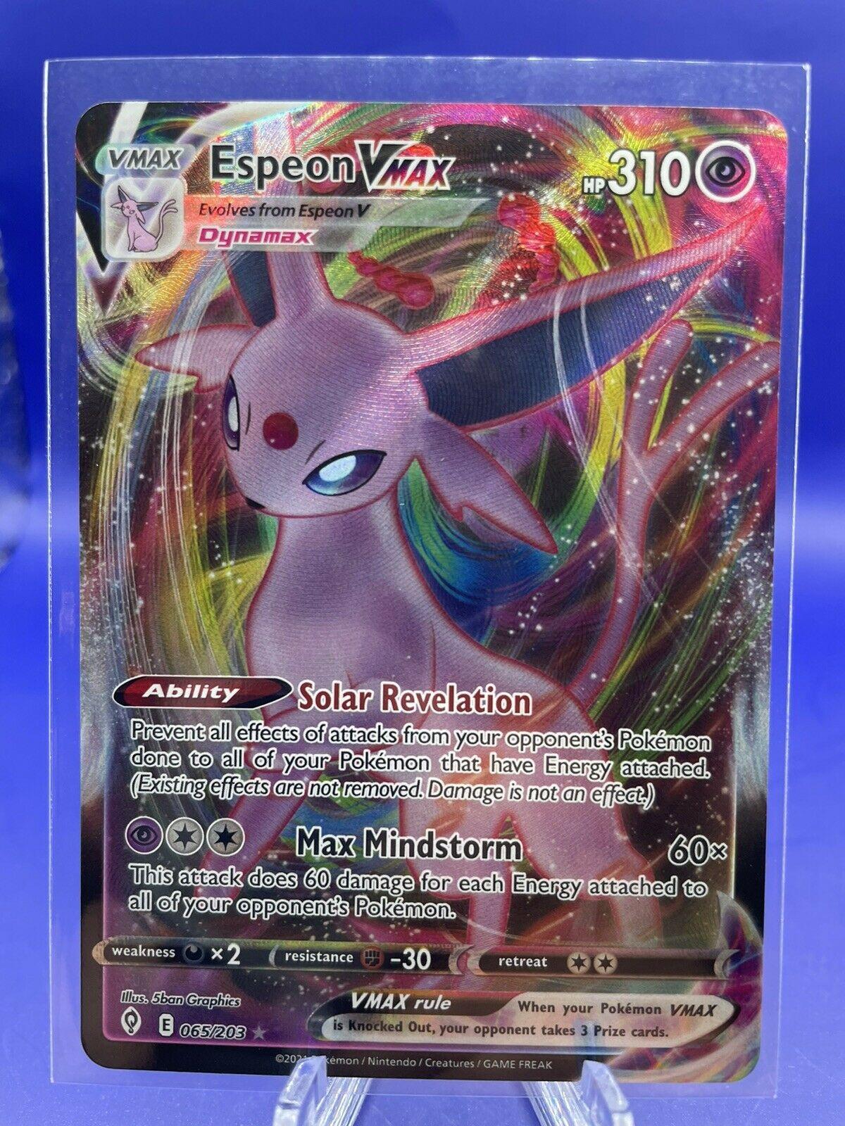 Espeon VMAX 065/203 Pokemon TCG Evolving Skies Full Art Ultra Rare Near Mint