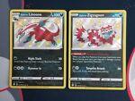 Pokemon Shining Fates SV079 Galarian Linoone SV078 Galarian Zigzagoon Shiny NM