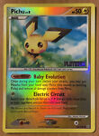 Pichu 45/100 - Stormfront Uncommon Reverse Holo Platinum Stamped - NM