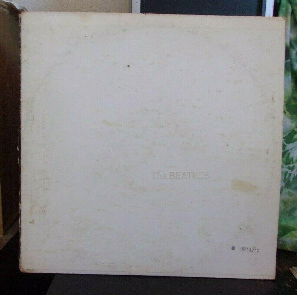 The Beatles White Album 2LP 1968 pressing serial number 0814217