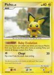 Pichu 93/123 Pokemon Card Mysterious Treasures Lightning NM.