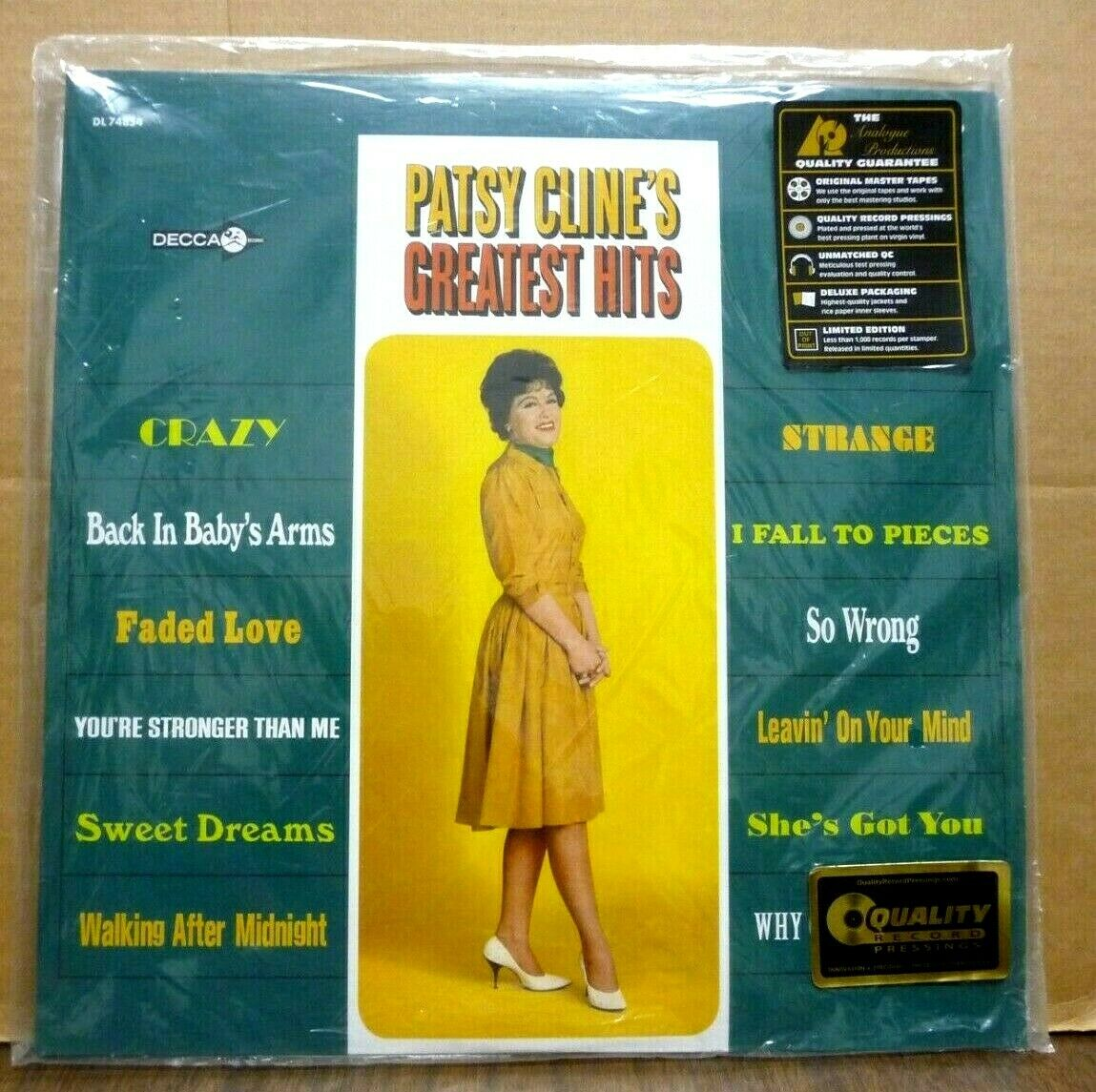 PATSY CLINE Greatest Hits ANALOGUE PRODUCTIONS 45-RPM 2-LP SEALED Audiophile