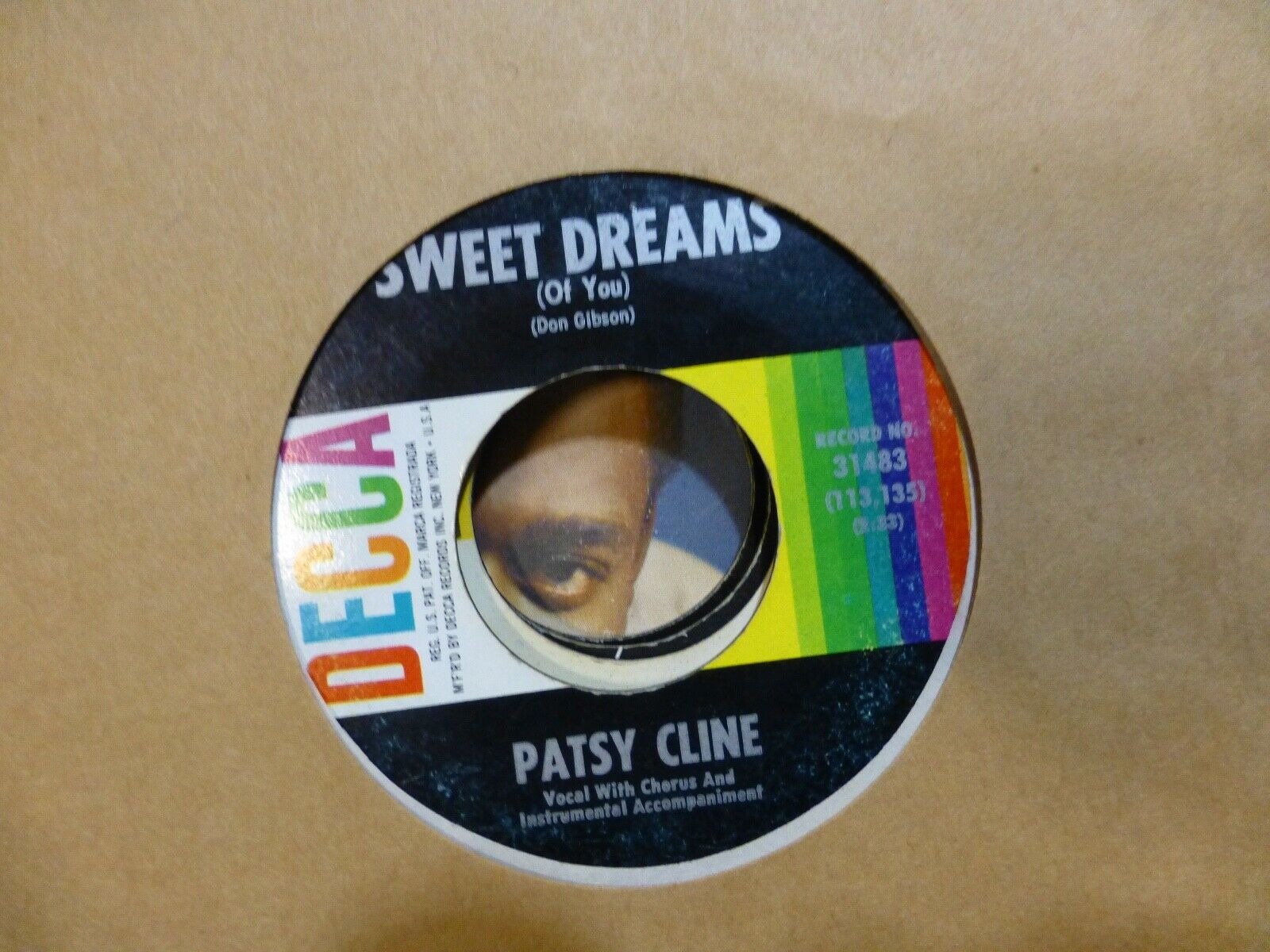PATSY CLINE BACK IN BABY'S ARMS // SWEET DREAMS 45 VG