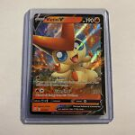 Victini V 021/163 Battle Styles Ultra Rare Holo Pokemon Near Mint NM/M