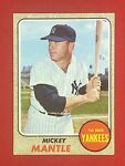 MICKEY MANTLE 1968 Topps #280 EX-EXMINT *Beautiful Card*
