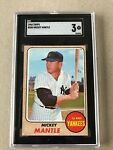 1968 MICKEY MANTLE TOPPS CARD # 280 - SGC 3 - VG