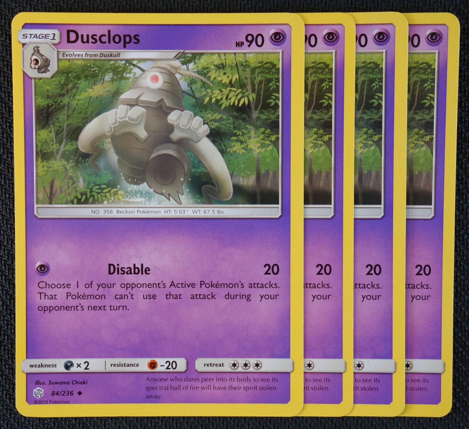 Cosmic Eclipse 83//236 Duskull SM-12 Pokemon Card Game TCG