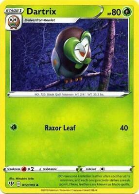 Pokemon Card Darkness Ablaze 12/189 012/189 Dartrix Uncommon - Image 1