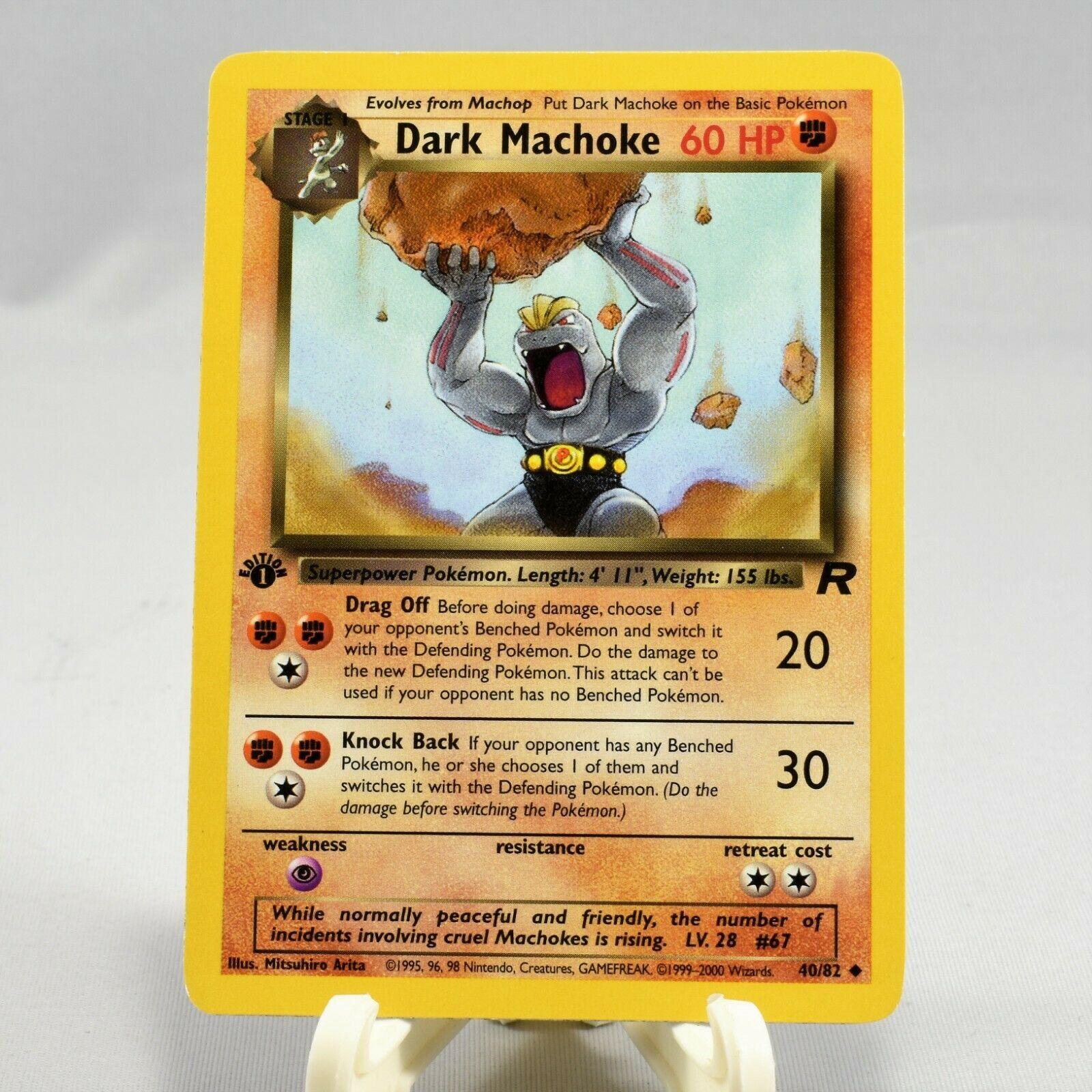 Dark Machoke 40//82 NM TEAM ROCKET 1st