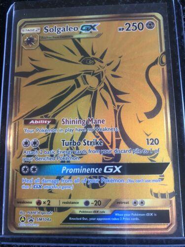 Solgaleo GX SM104a Black Star Promo Alternate Art Holo Mint Pokemon Card