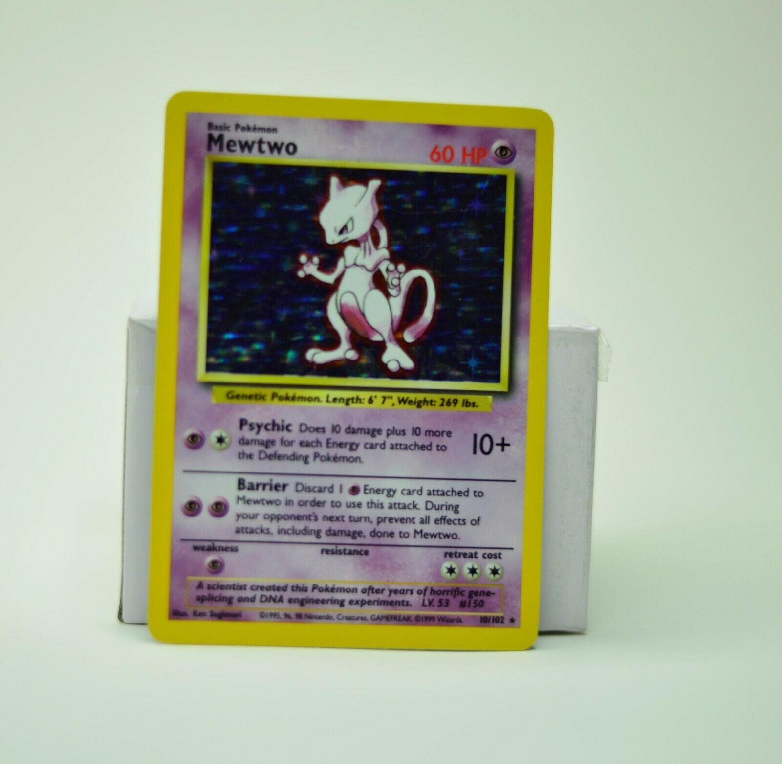 Mewtwo 10//102 Base Set Holo Rare Unlimited Edition Pokemon Card