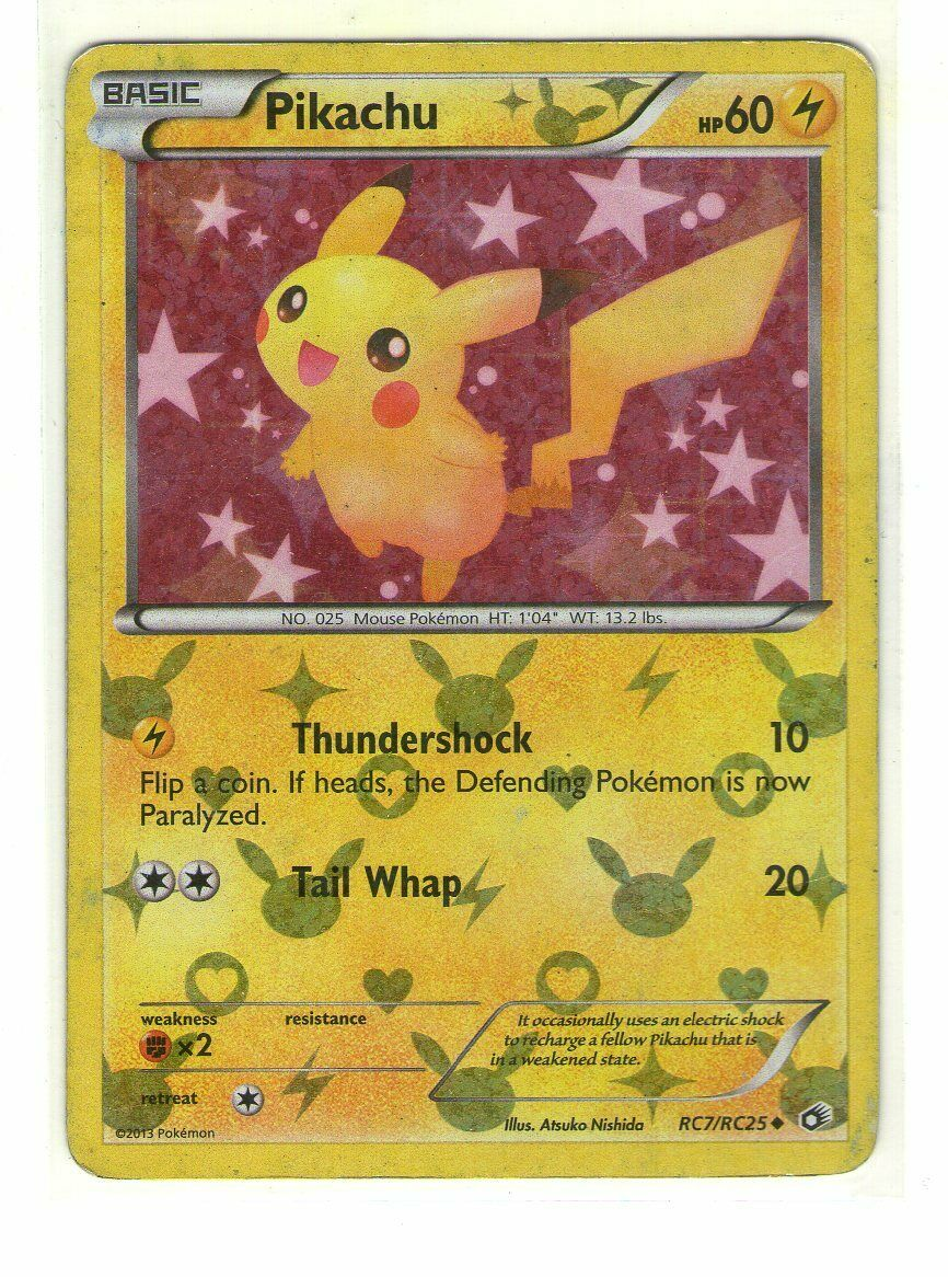 Uncommon - - BW Pikachu x1 NM-Mint!!! RC7//RC25 Legendary Treasures